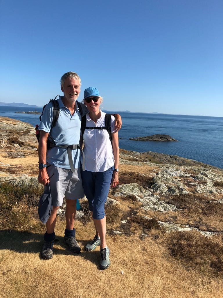 Patrick and Sue Franklin out walking around Wales to raise vital funds for BCPB's work